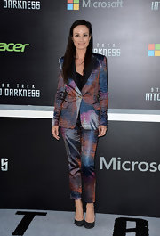 Catt Sadler rocked a mulit-colored pantsuit at the premiere of 'Star Trek Into Darkness.'