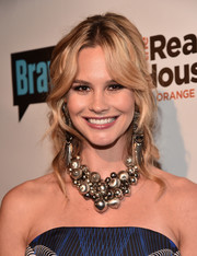 Meghan King Edmonds looked fetching with her wavy half-up hairstyle at the premiere party for 'The Real Housewives of Orange County.'