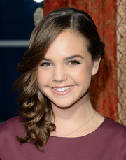 Bailee Madison sweetened up her look with a curly side sweep when she attended the premiere of 'Romeo and Juliet.'
