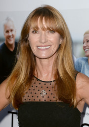 Jane Seymour wore her long hair down with wispy bangs when she attended the 'Thanks for Sharing' premiere.