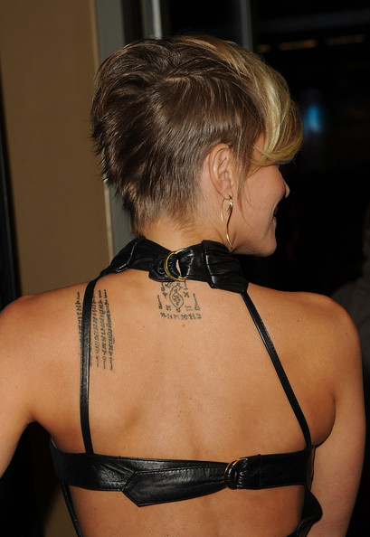 Brittany displayed her lettered tattoo while walking the red carpet at the premiere of 'Skyline'.