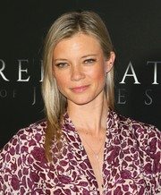Amy Smart kept it simple and casual with this straight hairstyle at the premiere of 'Free State of Jones.'