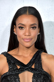 Annie Ilonzeh wore flat-ironed tresses at the premiere of 'Peppermint.'