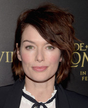 Lena Headey styled her short locks with tousled waves for the premiere of 'Pride and Prejudice and Zombies.'