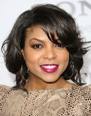 Taraji P. Henson wore a shimmery shade of bright raspberry lipstick at the premiere of 'Think Like a Man.'