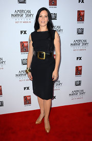 Franka put a dark edge on the classic LBD at the premiere of 'American Horror Story: Asylum' in Hollywood.
