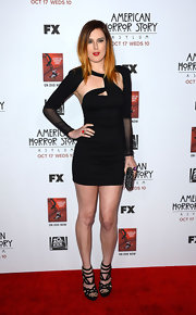 Rumer looked ready to hit the club in this creative cutout dress at the premiere of 'American Horror Story: Asylum' in Hollywood.