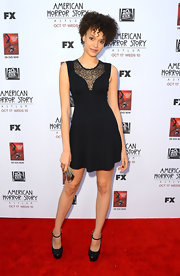 Britne looked cute and spunky in this little black dress at the premiere of 'American Horror Story: Asylum' in Hollywood.