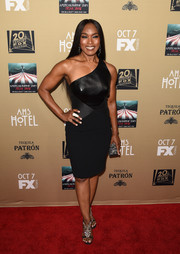 Angela Bassett looked ageless in a figure-hugging one-shoulder LBD at the premiere of 'American Horror Story: Hotel.'