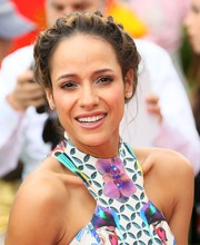 Dania Ramirez went for some fairytale-inspired elegance with this crown braid for the premiere of 'Angry Birds.'