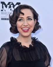 Kristen Schaal went vintage with this curly bob at the premiere of 'Boundaries.'