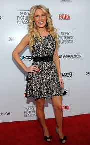 Gretchen Rossi arrived at the premiere of 'Darling Companion' wearing a pair of black peep toe pumps featuring sweet satin bows.