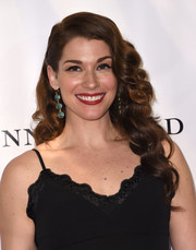 Dorian Brown was glamorously coiffed with retro waves at the premiere of 'Running Wild.'