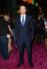 James Franco opted for a classic two-button, notch lapel suit for his red carpet look at 'Spring Breakers.'