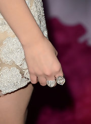 Ashley Benson opted for a white gold diamond ring to give her some more sparkle at the 'Spring Breakers' red carpet.