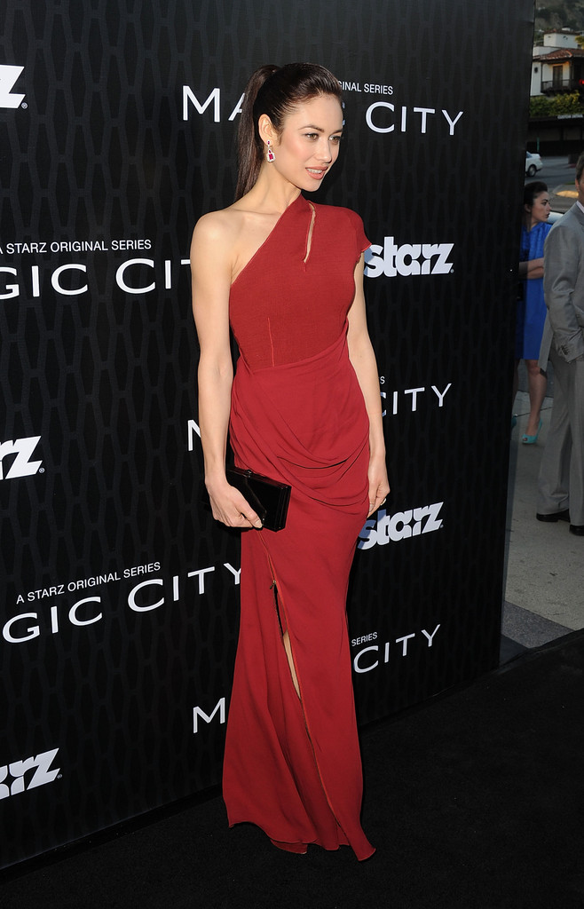 "Actress Olga Kurylenko arrives at the premiere of Starz&squot;s ""Magic City"" held at the Directors Guild of America on March 20, 2012 in Los Angeles, California."