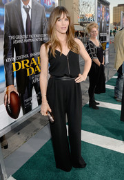 Jennifer Garner was casual yet effortlessly chic in a black MaxMara jumpsuit during the premiere of 'Draft Day.'