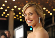 Petra Nemcova sparkled in diamond chandelier earrings.