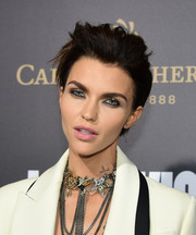 Ruby Rose made her eyes pop with a swipe of silver shadow.
