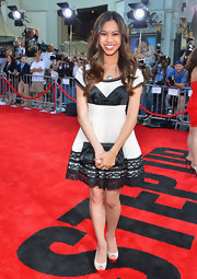 Ashley Argota was a total doll in this black-and-white French Maid-esque dress.