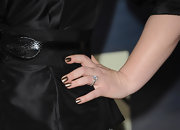 "Stephenie Meyer flaunted golden metallic nails on 'The Twilight Saga: Breaking Dawn - Part 2"" red carpet."