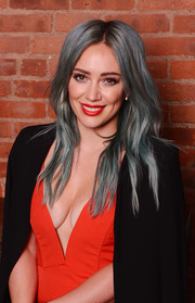 Hilary Duff looked funky-glam with her blue center-parted hairstyle at the 'Younger' after-party.