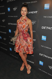 Hannah Ware wore this summer print shirt dress for the Tribeca Film event in NYC.
