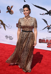 America Ferrera looked like an animal print-clad princess in this Dolce & Gabbana gown at the 'How to Train Your Dragon 2' premiere.