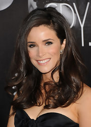 Abigail Spencer wore her dark glossy locks with a lot of volume and loads of curl at the premiere of 'This Means War.'