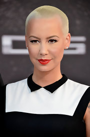 Amber Rose's full pout looked simply gorgeous with this ruby red matte lipstick.