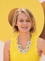 Ryan Simpkins sported a casual bob at the premiere of 'Minions.'