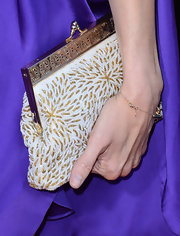 Mary-Louise Parker carried a gorgeous beaded clutch to the premiere of 'Savages.'