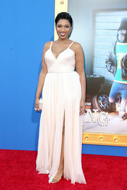 Jennifer Hudson channeled summer with this white spaghetti-strap gown by J. Mendel at the premiere of 'Sing.'