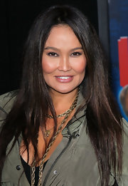 Tia Carrere left her hair down in a sleek straight style for the premiere of 'Wreck-It Ralph.'