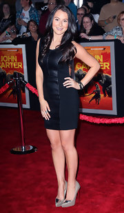 Alexa Vega topped off her LBD with metallic-accented platform pumps.