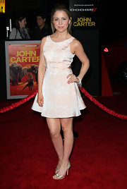 Makenzie Vega attended the premier of 'John Carter' wearing a white fresh water pearl stretch fringe bracelet.