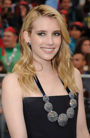 Emma Roberts amped up her neckline with an Indian beaded necklace at the premiere of 'Pirates of the Caribbean.'