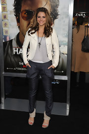 Maria Menounos wore an intense, bright red-orange nail polish on her toes at the premiere of 'The Hangover Part II.'