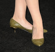 Susan Sarandon played it safe with green kitten heels at the 'Cloud Atlas' premiere.