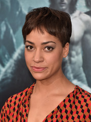 Cush Jumbo attended the premiere of 'The Legend of Tarzan' wearing her signature pixie.
