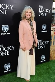 Blythe Danner layered up at the the premiere of 'The Lucky One' in Hollywood in this pastel blazer.