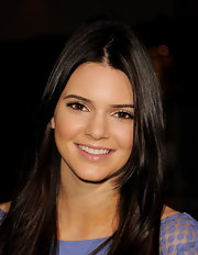 Kendall Jenner arrived at the premiere of 'Project X' wearing a sheer shimmering pink lipgloss.
