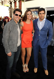 Eli Roth wore an attention-grabbing chambray suit at the 'Rock of Ages' premiere.