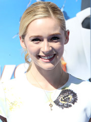 Greer Grammer was a fresh-faced beauty with her ponytail and barely-there makeup at the premiere of 'Storks.'