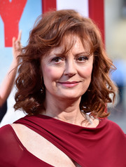 Susan Sarandon wore her hair down with bouncy curls and wispy bangs during the premiere of 'Tammy.'