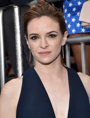 Danielle Panabaker styled her hair into a loose ponytail for the premiere of 'Wonder Woman.'