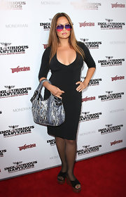 Tia Carrere's rainbow lens aviator sunglasses added a nice pop of color to her look during the 'Inglourious Basterds' premiere.