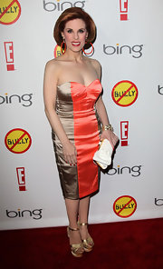 Kat Kramer stepped out in this strapless color-blocked dress for the 'Bully' premiere in LA.