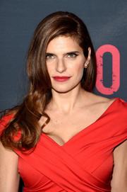Lake Bell amped up the sex appeal with a bold red lip.