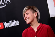 Hannah Hart looked cool wearing this undercut bob at the premiere of 'Demi Lovato: Simply Complicated.'